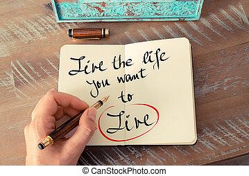vita, testo, scritto, vivere, volere, lei