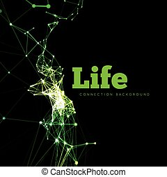 vita, vettore, illustrazione