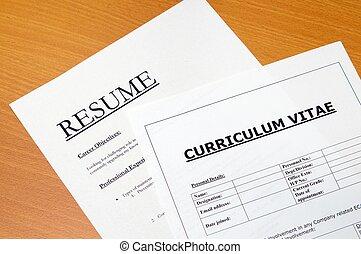 vitae, curriculum