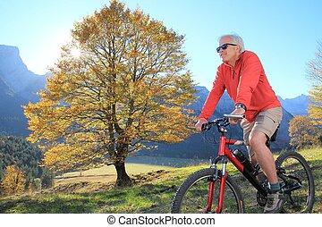 vital, sênior, mountainbiking, 2