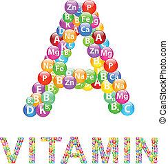 Vitamin A Concept Vector
