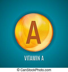 Vitamin A Icon Antioxidant. Illustration