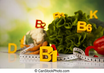 Vitamin and Fitness diet, lifestyle concept