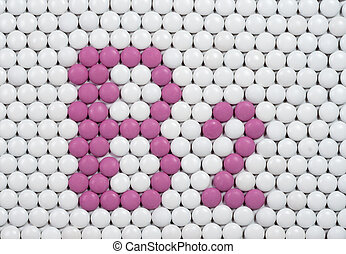 Vitamin B 2 made of pills - Vitamin B 2 made of tablets on ...