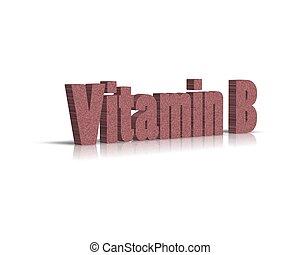 vitamin B 3d word