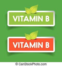 Vitamin B label vector set