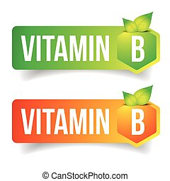 Vitamin B label vector tag sign