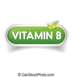 Vitamin B label vector
