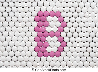 Vitamin B made of pills - Vitamin B made of tablets on ...