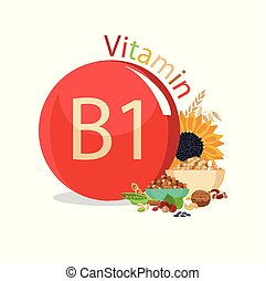 Vitamin B1. Natural organic products with the maximum ...