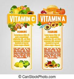 Vitamin Banners Set