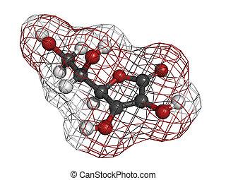 Vitamin C (ascorbic acid) molecule - Vitamin C (ascorbic...