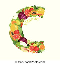 Vitamin C (ascorbic acid). The composition of natural ...