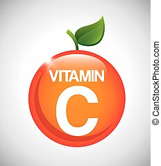 vitamin c design, vector illustration eps10 graphic