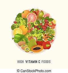 Vitamin C in food image