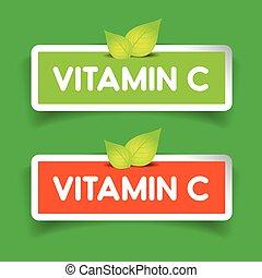 Vitamin C label vector set