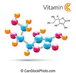 Vitamin C molecule - Vitamin C 3d molecule chemical science ...