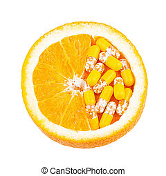 Vitamin C as Orange Fruit