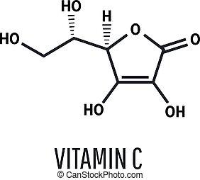 Vitamin C skeletal formula, vector illustration - Vitamin C ...