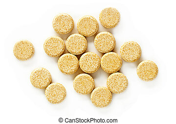 Vitamin C Tablet Supplements - A pile of vitamin C...