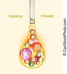 Vitamin Complex Image - Essential vitamin complex. Beautiful...