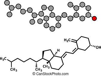Vitamin D (D3, cholecalciferol, toxiferol) molecule.