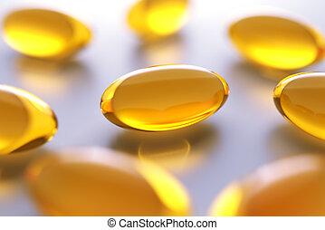 Vitamin gel capsules
