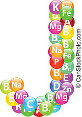 Vitamin Letter J Illustration