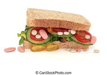 Vitamin Pill Addiction - Vitamin pill supplements in a...