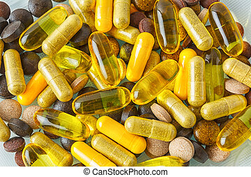 Vitamin pills texture background - Ayurvedic pills as ...