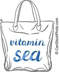 Vitamin sea lettering.