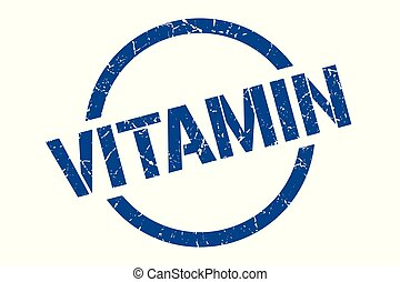 vitamin stamp - vitamin blue round stamp
