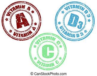 Vitamin stamps