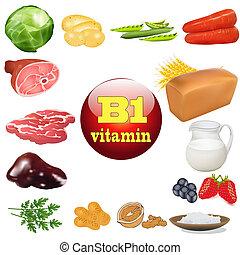 vitamina b, uno, en, planta, y, productos animales, el,...