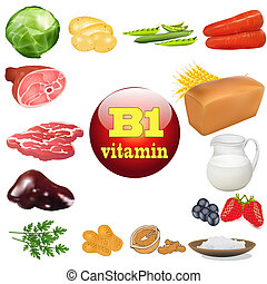 vitamina b, uno, in, pianta, e, prodotti animali, il,...