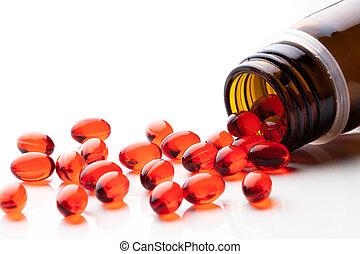 vitamina, cápsulas