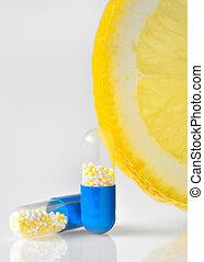 vitamina c, pílulas