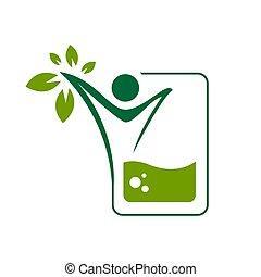 vitamina, healty, illustrazioni, infusione, vettore, logotipo, nutrizione, disegno