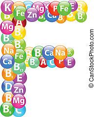 vitamina, lettera f