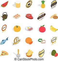 Vitamine icons set, isometric style - Vitamine icons set. ...