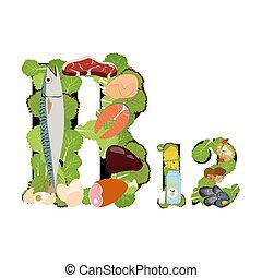 vitamine, illustratie, b12