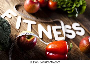 vitamine, régime, fitness