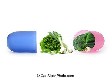vitamines minéraux, concept