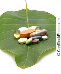 vitamines, pilules, tablettes
