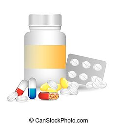 vitamins and suplements design, vector illustration eps10...