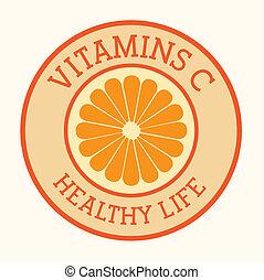 Vitamins design over white background, vector illustration