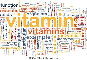 vitamins, hälsa, bakgrund, begrepp