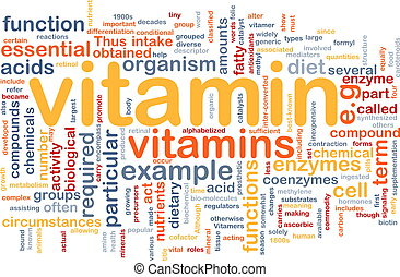 Vitamins health background concept