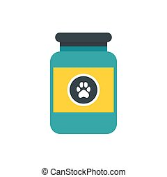 Vitamins or medicament for animals icon - icon in flat style...