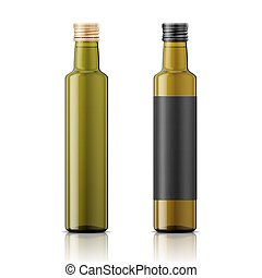 vite, olio, bottiglia, cap., sagoma, oliva
